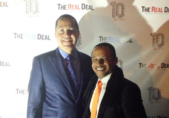 Vernon Jay with Real Estate Developer Don Peebles at The Real Deal Holiday Event